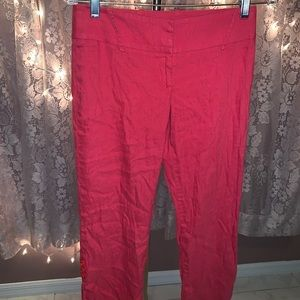 Bebe red long capris or pants